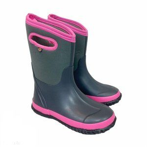 Bogs Gray Pink Classic nsulated Waterproof Boots 4